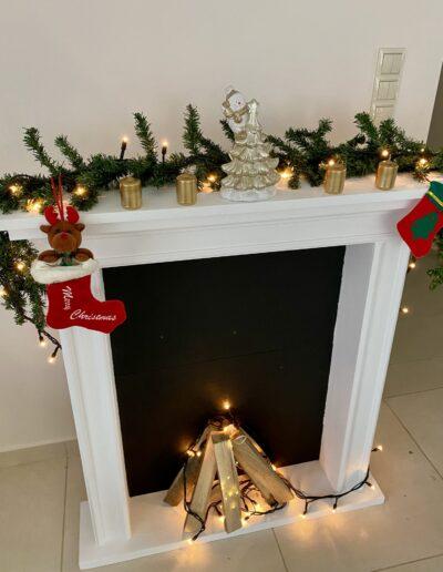 Álkandalló keret karácsonyi pompában