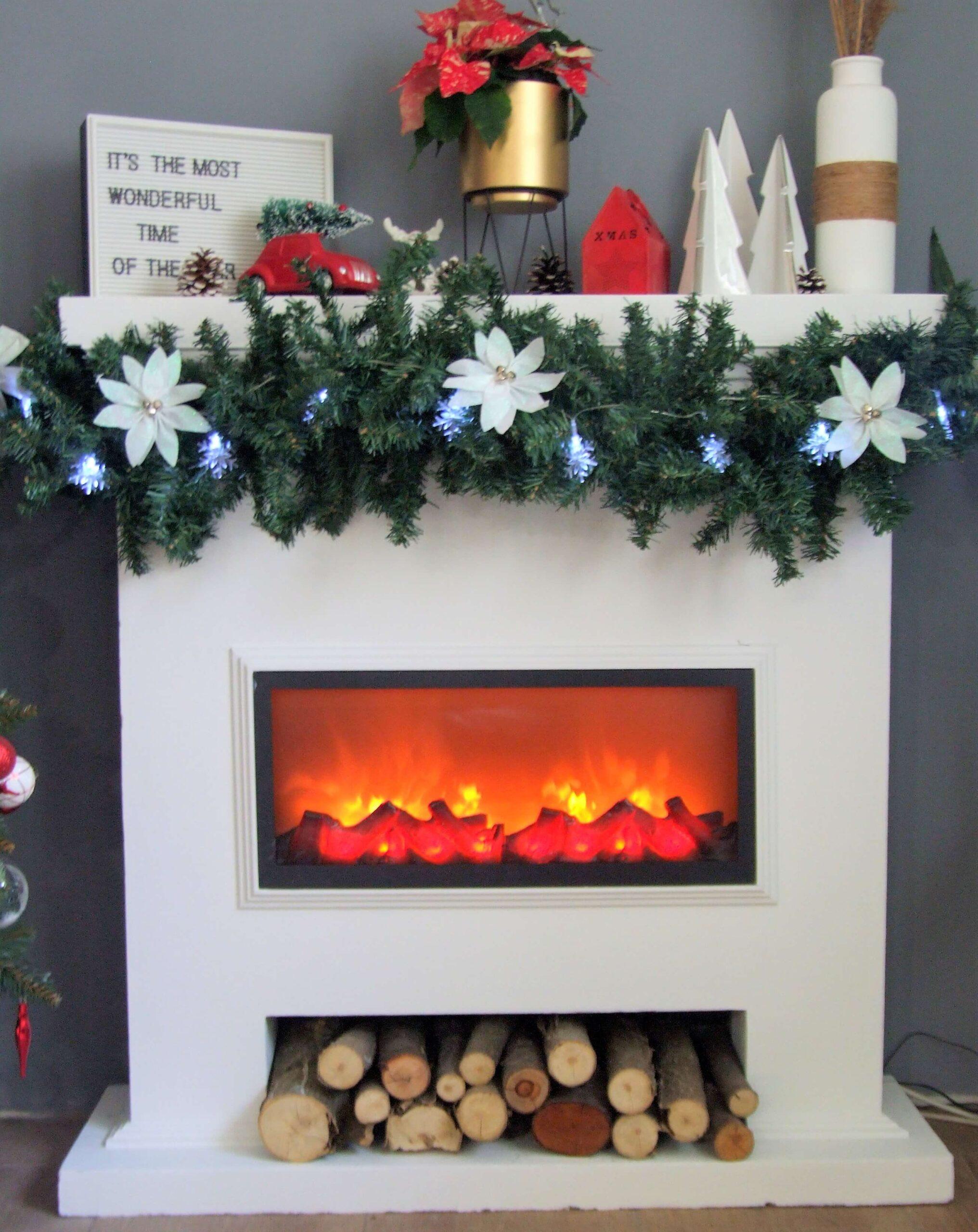 Karácsonyi kandalló dekor